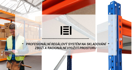 Profesionální regálový systém na skladování zboží