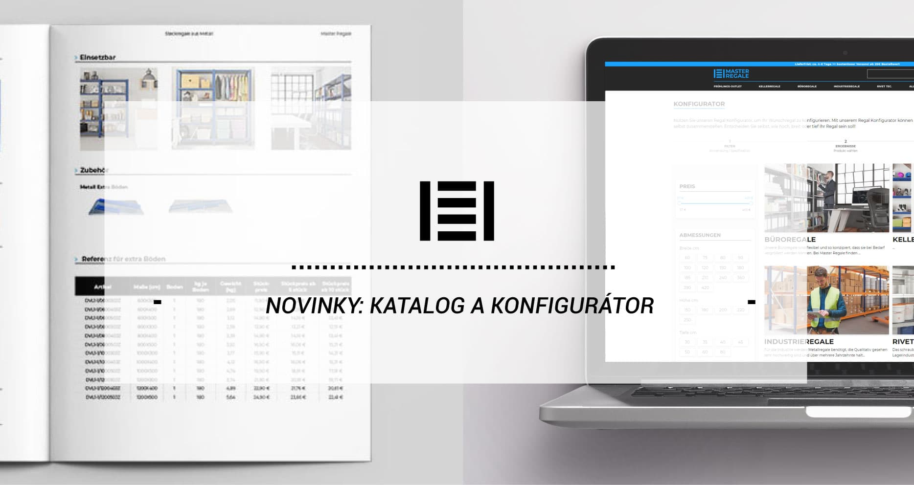Novinky: Katalog a Konfigurátor regálů