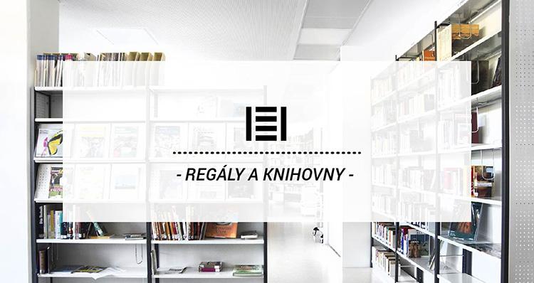 Kovové regály do knihovny